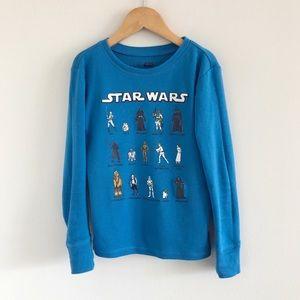 Star Wars x Gap Blue Pajama PJ Top 8 Kids